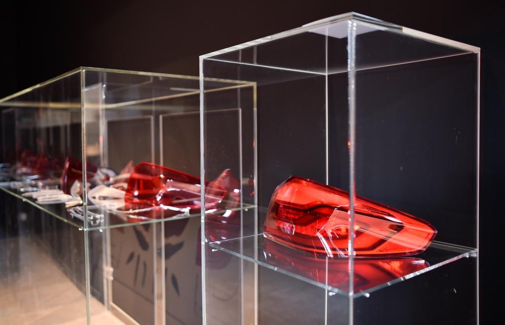 Evonik, Ausstellung Red Dot Design Museum Plexiglas am Dienstag 09.05.2017  in Essen.